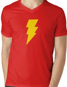 COOL BOLT Mens V-Neck T-Shirt
