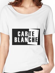 Carte Blanche Stickers and T-Shirt Women's Relaxed Fit T-Shirt