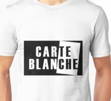 Carte Blanche Stickers and T-Shirt Unisex T-Shirt