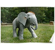 Life-sized Gourd Sculpted baby elephant Poster