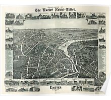 Panoramic Maps Exeter New Hampshire 1896 Poster