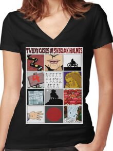 12 Cases of Sherlock Holmes Women's Fitted V-Neck T-Shirt