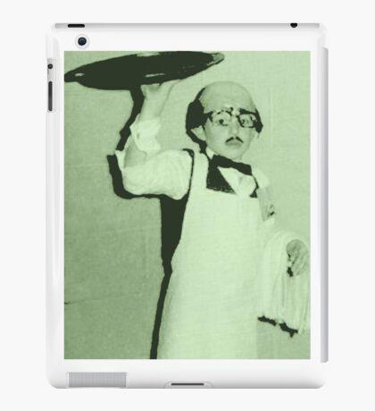 waiter costume halloween kid  iPad Case/Skin