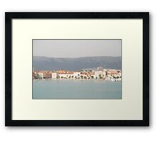 adriatic sea croatia split Framed Print