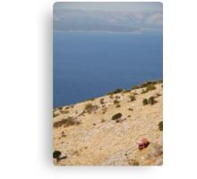 car beach adriatic Canvas Print