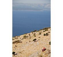 car beach adriatic Photographic Print