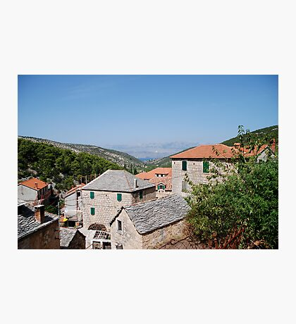 croatia village Photographic Print