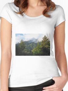 Big Sur Coastal Mountains Women's Fitted Scoop T-Shirt
