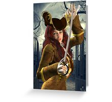 Pirate's pin-up Greeting Card