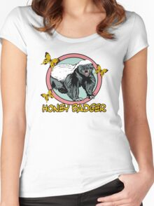 Honey Badger ... you know ... for kids Women's Fitted Scoop T-Shirt