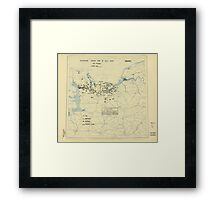 July 15 1944 World War II Twelfth Army Group Situation Map Framed Print