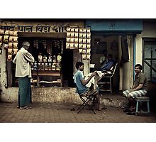 Sunday is Barber Day Photographic Print