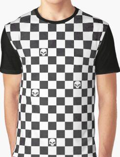 Halloween Skull Checks Graphic T-Shirt