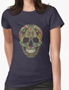 Ethno skull Womens Fitted T-Shirt