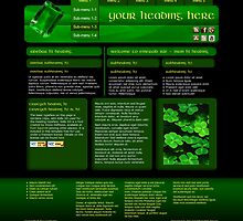 Emerald Isle - Web Design by Darcy Overland