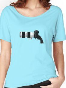 Shoot! (White Barrel) Women's Relaxed Fit T-Shirt