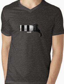 Shoot! (White Barrel) Mens V-Neck T-Shirt