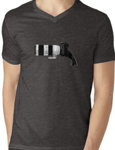 Shoot! (White Barrel) Mens V-Neck T-Shirt