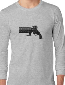 Shoot! (Black Barrel) Long Sleeve T-Shirt