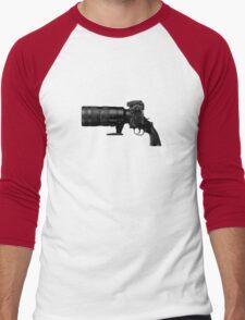 Shoot! (Black Barrel) Men's Baseball ¾ T-Shirt
