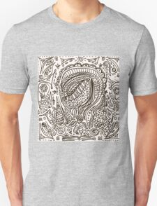 Cute cartoon doodle hipster pattern. T-Shirt
