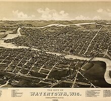 Panoramic Maps The city of Watertown Wis Dodge Jefferson counties 1885 by wetdryvac
