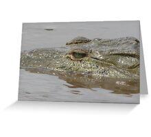 Crocodile in Rio Grande de Tarcoles, Costa Rica Greeting Card