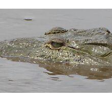 Crocodile in Rio Grande de Tarcoles, Costa Rica Photographic Print