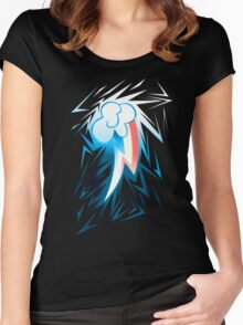 Shards of Rainbow Dash's Cutiemark Women's Fitted Scoop T-Shirt