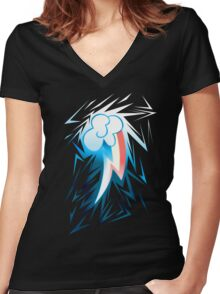 Shards of Rainbow Dash's Cutiemark Women's Fitted V-Neck T-Shirt