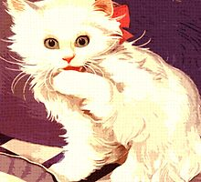 White Cat - Miss Priss by Rob Hopper