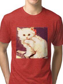 White Cat - Miss Priss Tri-blend T-Shirt