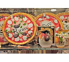 Pizza Pottery Photographic Print