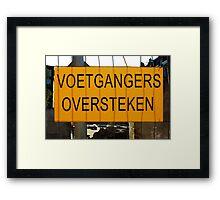 Temporary Amsterdam - Voetgangers oversteken Framed Print
