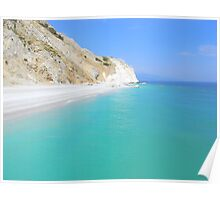 Skiathos Island, Greece - Lalaria Beach and Limestone Cliffs Poster
