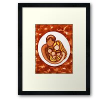 Peace in the Family Framed Print