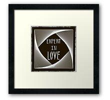 Expert in love Framed Print