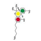 Rasta colour THC molecule design iphone case by grumble1