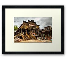 Goldfield Ghost Town - Mammoth Saloon  Framed Print