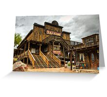 Goldfield Ghost Town - Mammoth Saloon  Greeting Card