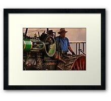 """ Men and Machine "" Framed Print"