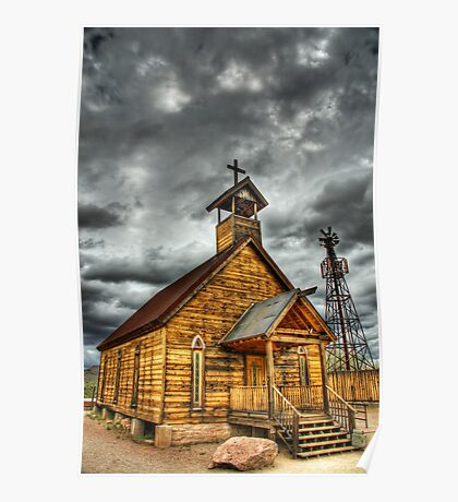 Goldfield Ghost Town - Church II  Poster