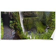Behind the Waterfall - Mt. Hood N. F. Poster