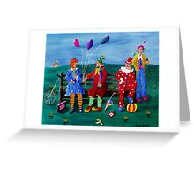 The Clowns Greeting Card