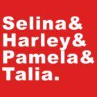 Selina & Harley & Pamela & Talia by zorpzorp