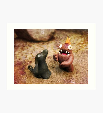 Knubbelding - Pauli & Georg the Dog. Art Print
