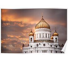 Moscow - the golden hour Poster