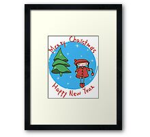 Girl with Christmas ball.  Framed Print