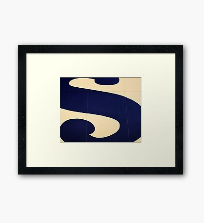 Blue S Framed Print