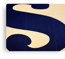 Blue S Canvas Print